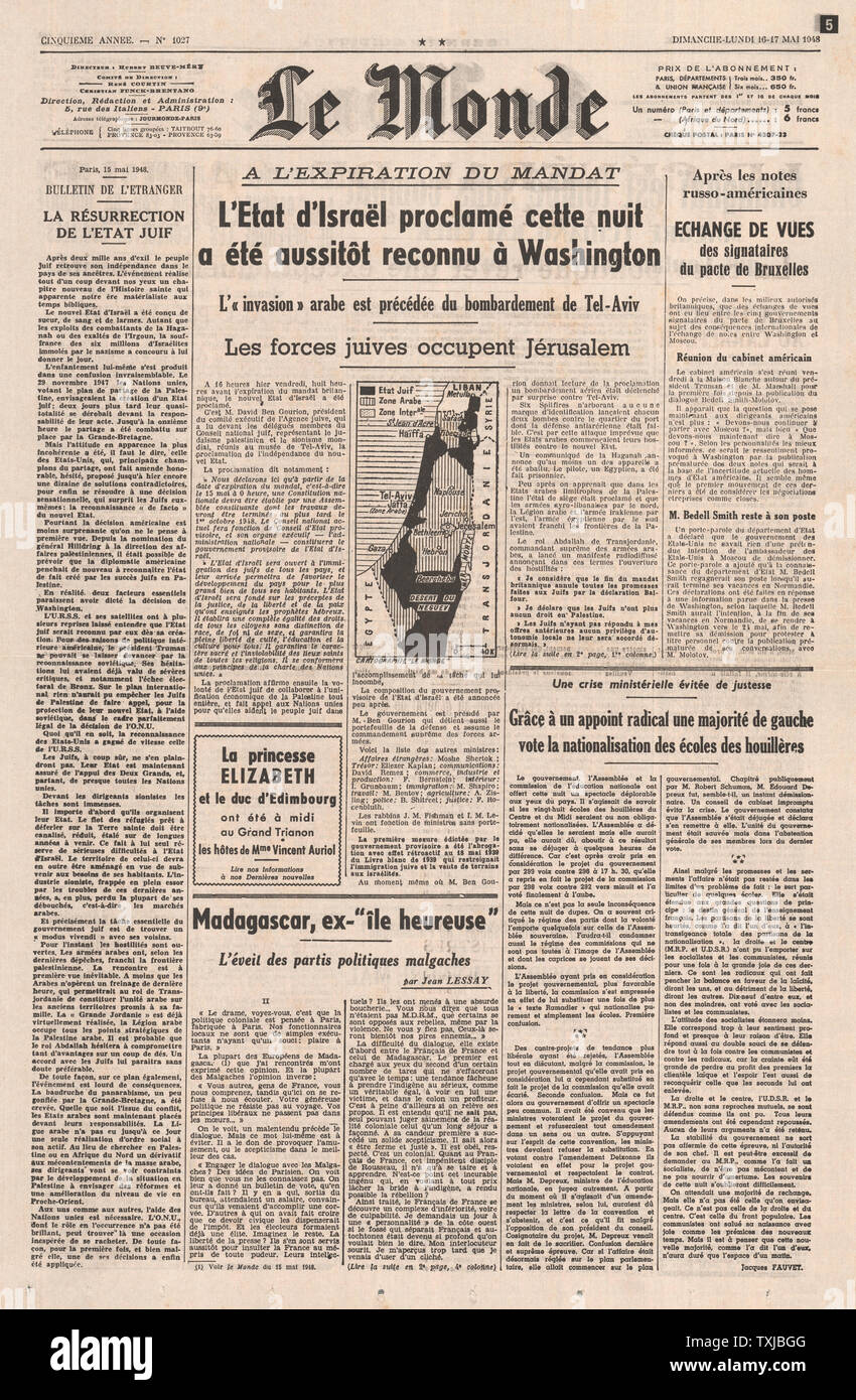 French Newspaper Stock Photos & French Newspaper Stock