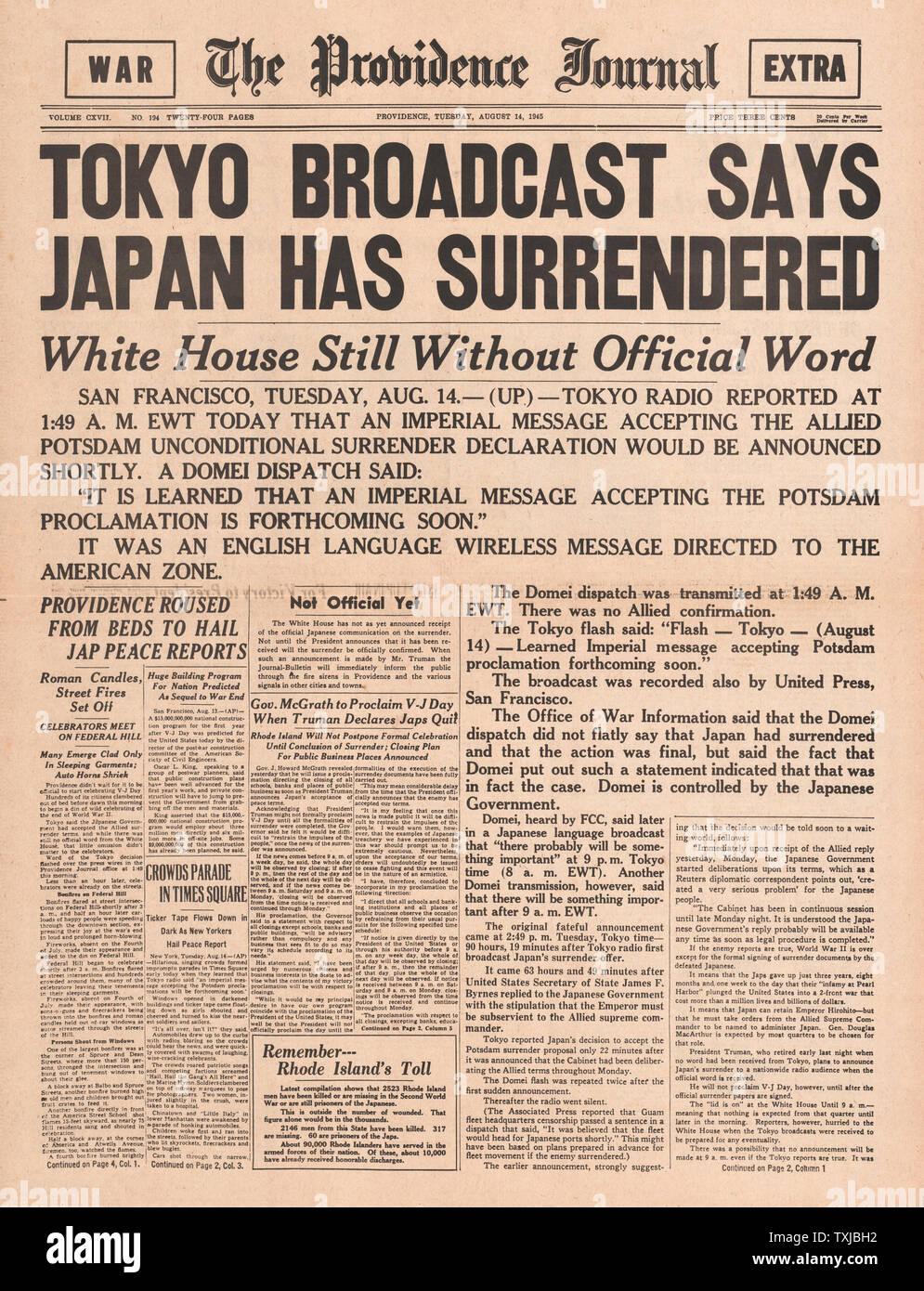 Harry Truman Newspaper Stock Photos & Harry Truman Newspaper