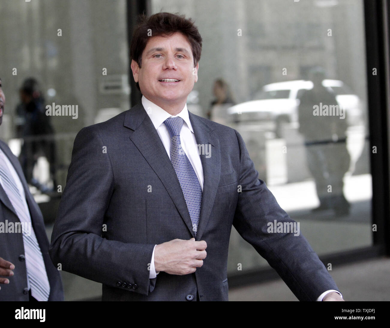 Former Illinois Gov  Rod Blagojevich leaves federal court