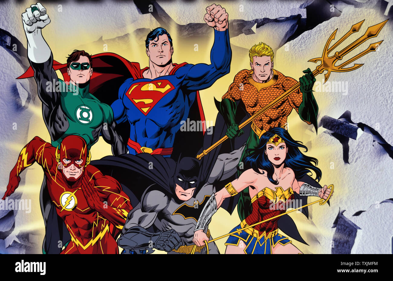 superheros of the justice league ready for action TXJMFM