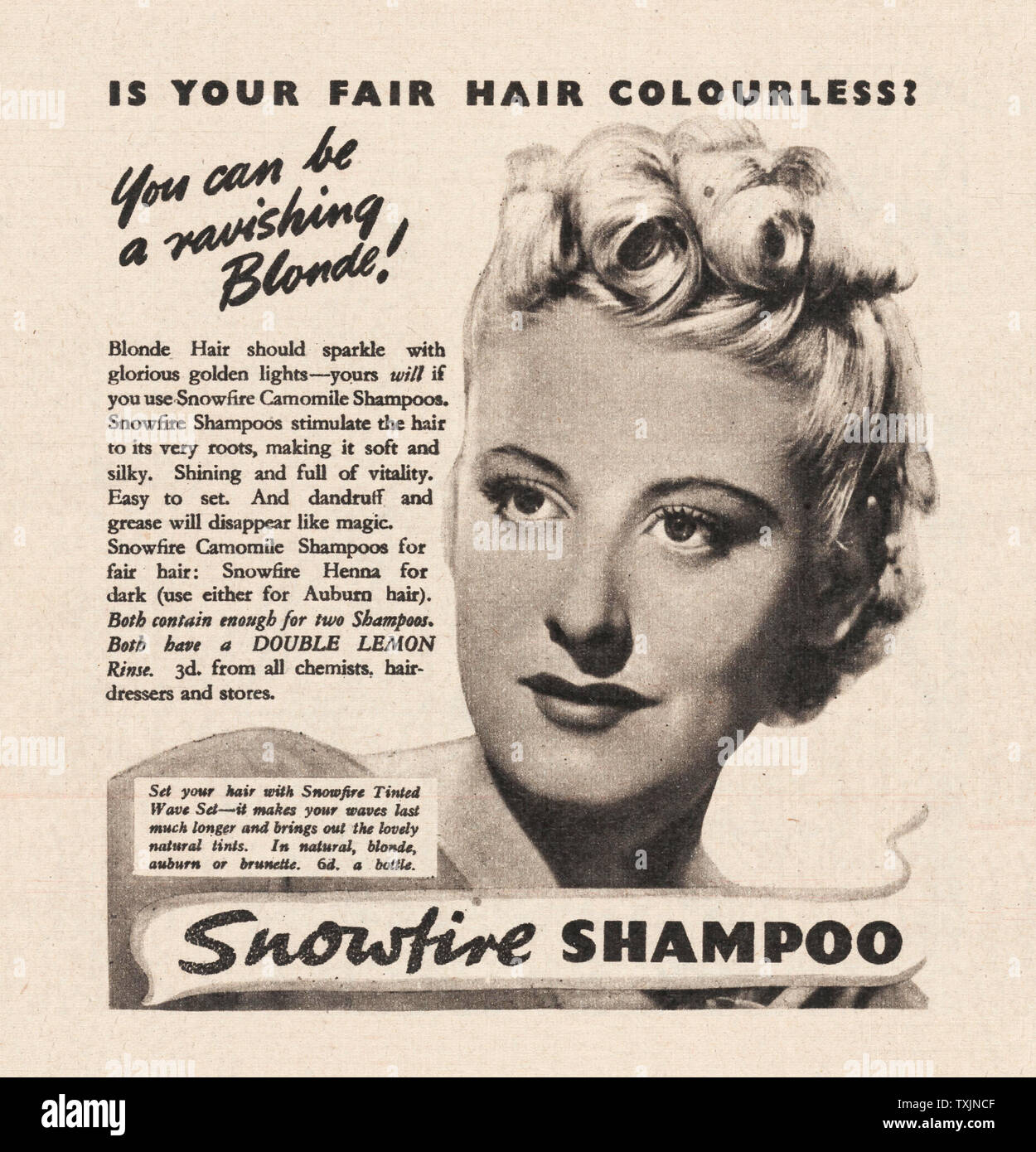 Shampoo Advertisement Stock Photos & Shampoo Advertisement