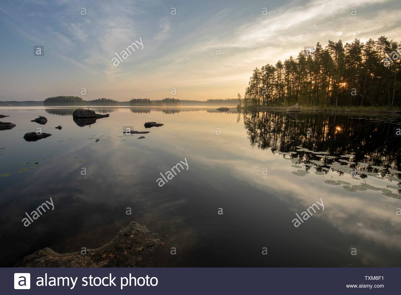 Lake view finland - Stock Image