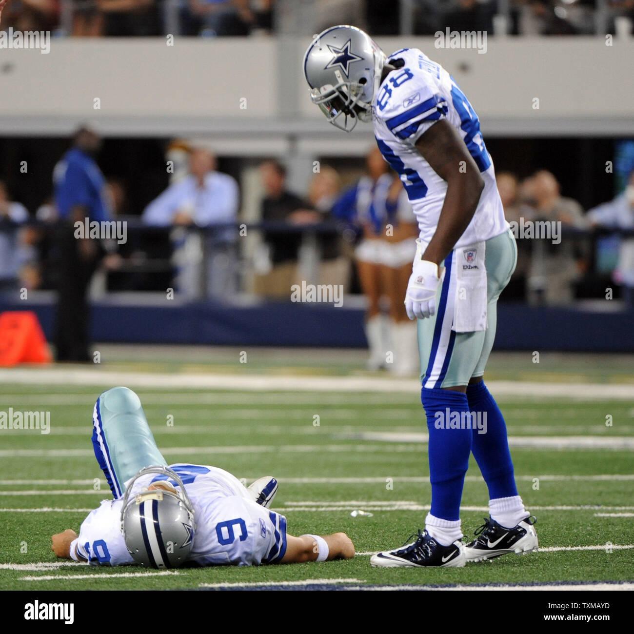 Dallas Cowboys Dez Bryant Checks On Injured Quarterback Tony