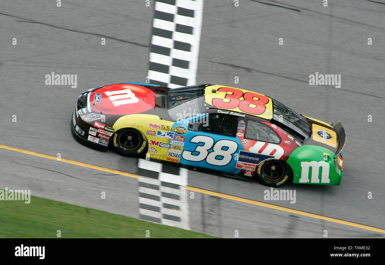 David Gilliland Crosses The Finish Line Winning The Pole For The