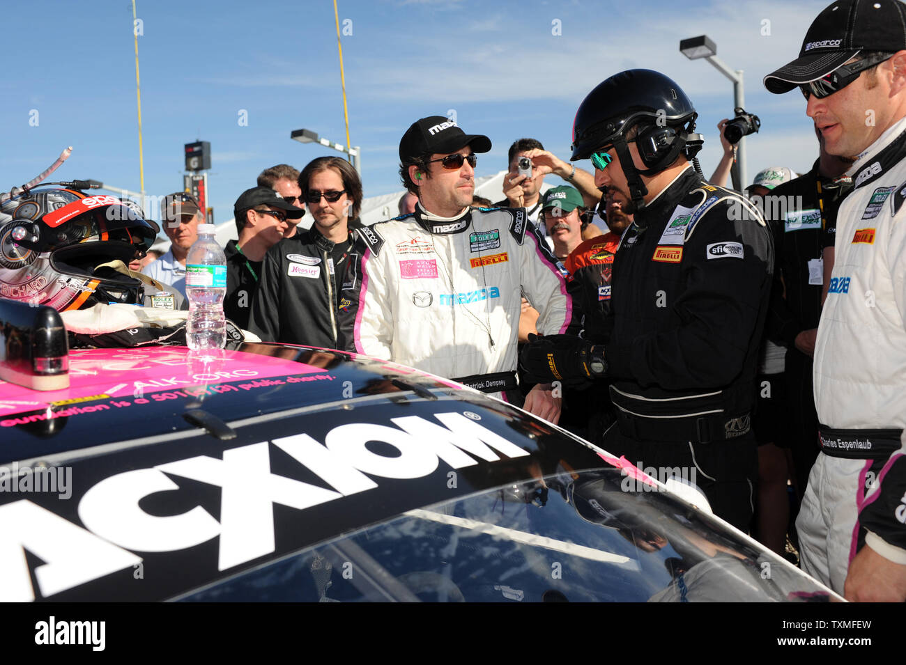 Actor Patrick Dempsey Prepares To Enter His Car Prior To The Start