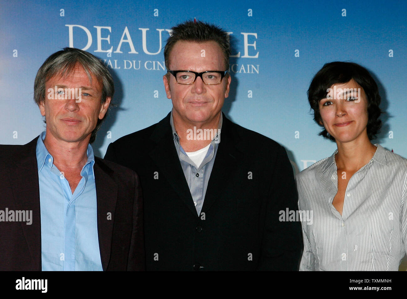 Director Damian Harris L Actor Tom Arnold C And Cinematographer Paula Huidobro Arrive At A Photocall