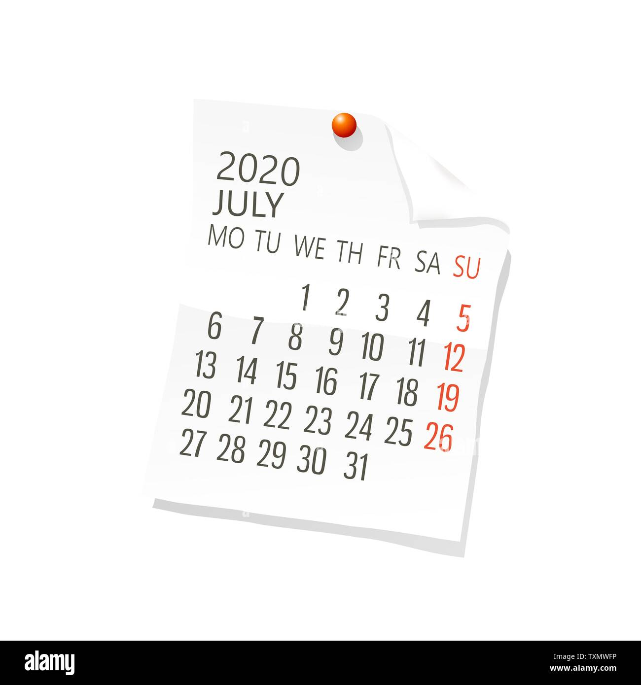 Calendario 2020 Maxim.Planning Holiday Stock Vector Images Page 3 Alamy