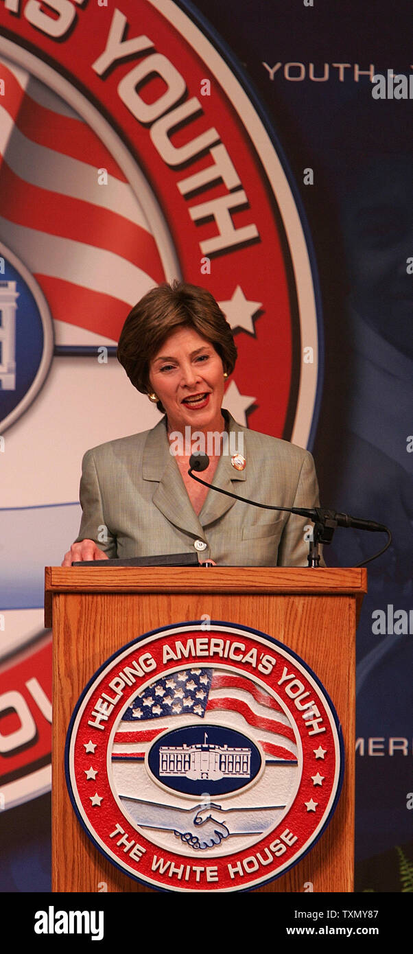 Conference August 4th Keynoted By >> First Lady Laura Bush Keynote Stock Photos First Lady Laura Bush