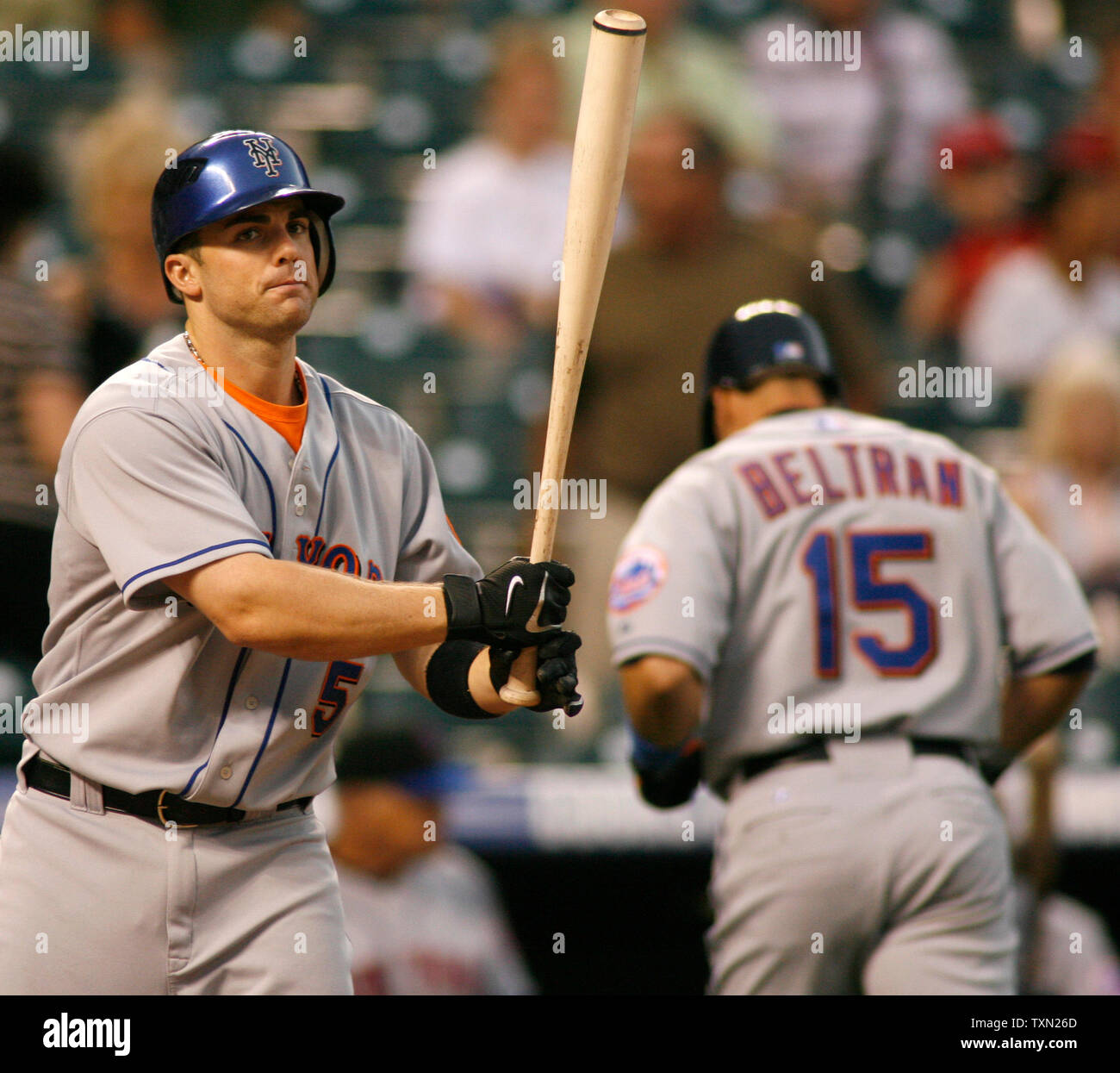 New York Mets Batter David Wright L Comes To Bat In The