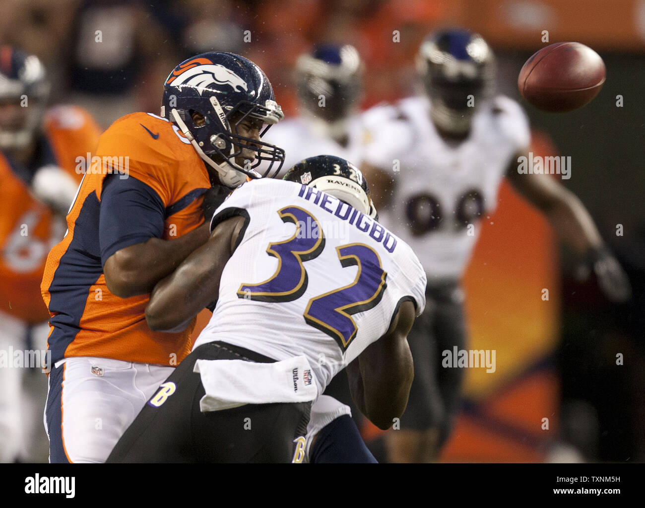 first rate ed683 e3e50 Baltimore Ravens safety James Ihedigbo (32) knocks the ball ...