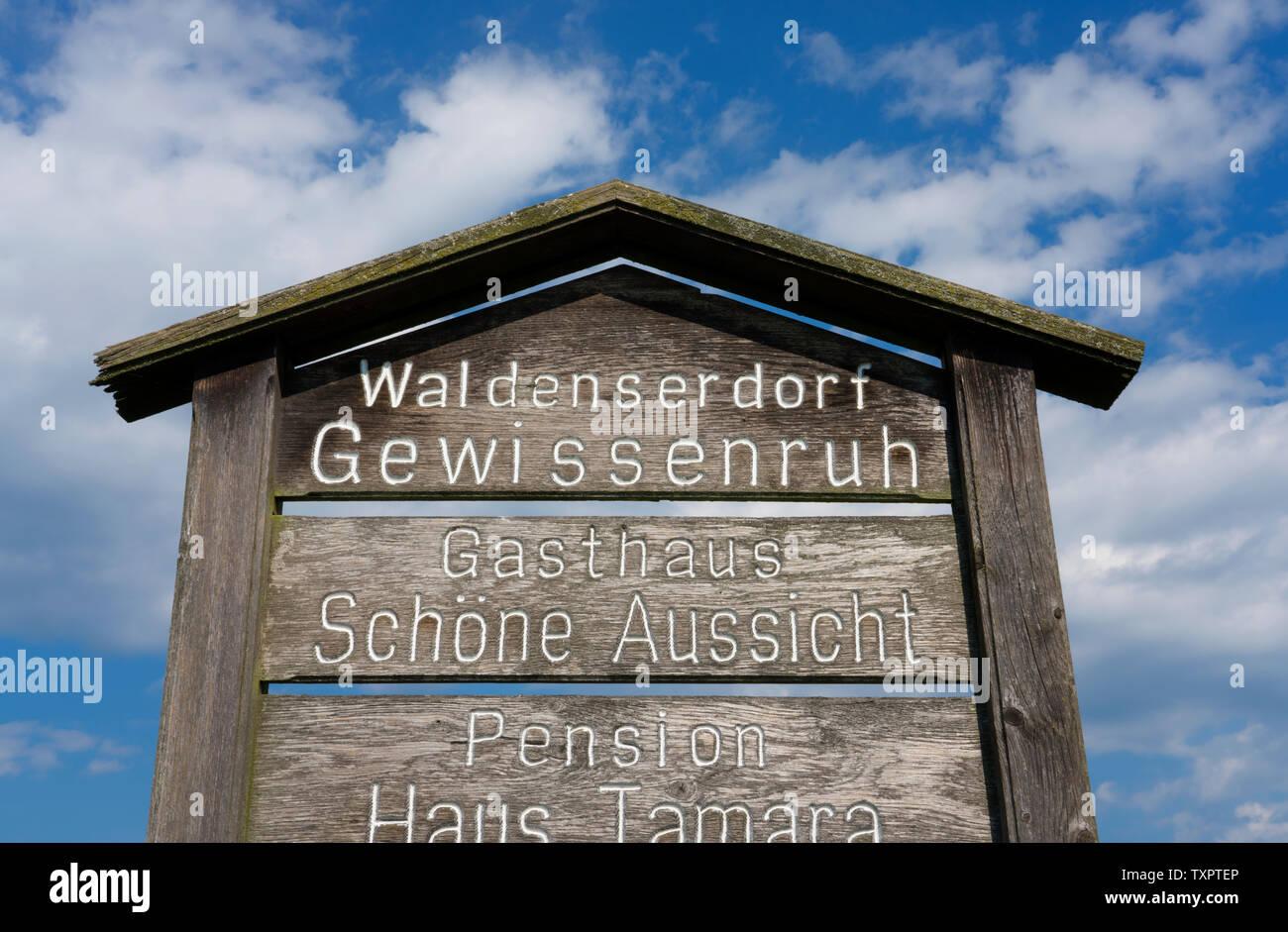 Waldensian village of Gewissenruh, Oberweser, Upper Weser Valley,  Weser Uplands, Weserbergland, Hesse, Germany - Stock Image