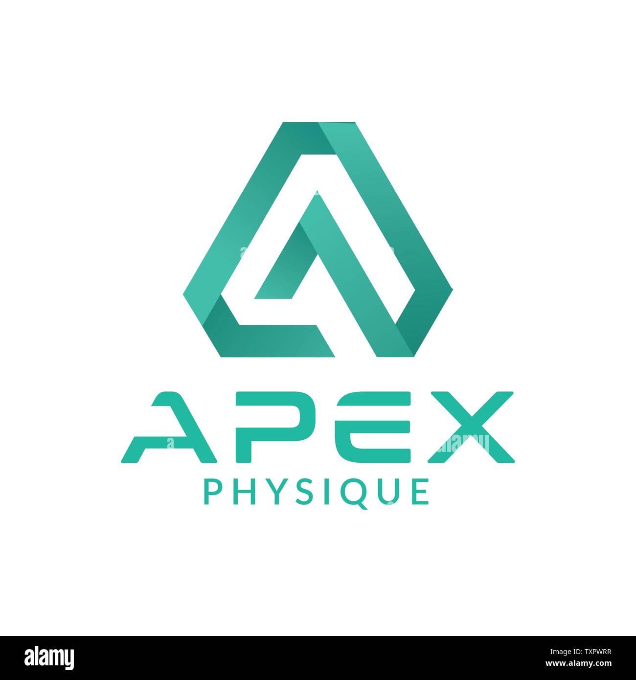 Letter AP logo design template - Stock Image