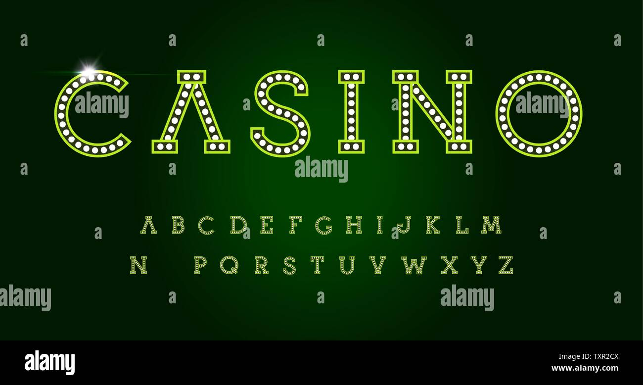 Casino Letters Set On Green Background Green Luxury Style Vector Latin Alphabet Font For Events Web Business Promotions Logos Banner Monogram Stock Vector Image Art Alamy