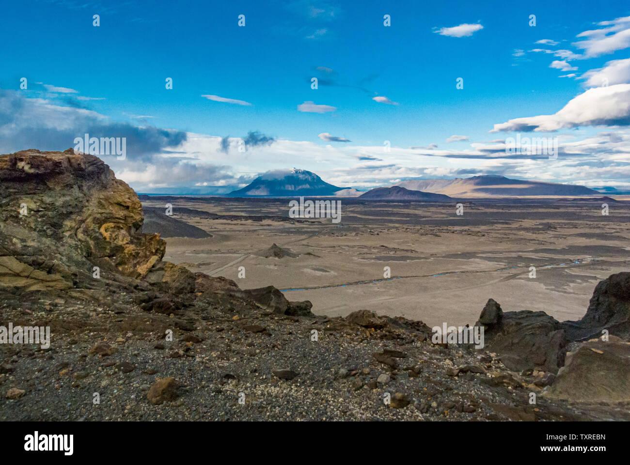 Herdubreid  Herðubreið, a tuya in north-east Iceland
