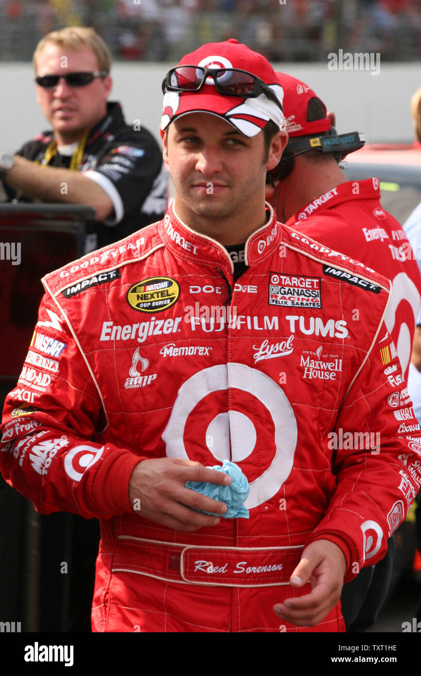 Reed Sorenson earned the pole position for the 14th annual Brickyard 400 at the Indianapolis Motor Speedway in Indianapolis on July 28, 2007.  (UPI Photo/ Ed Locke) - Stock Image