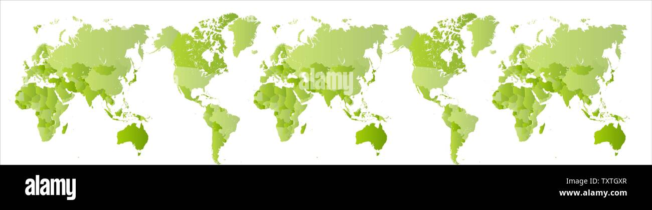 Big green world map. Expanded Planet Earth. Globe scan ... on