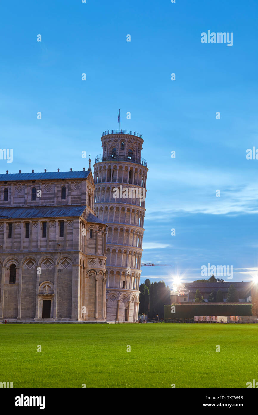 The Duomo and the leaning tower of Pisa, Italy Stock Photo