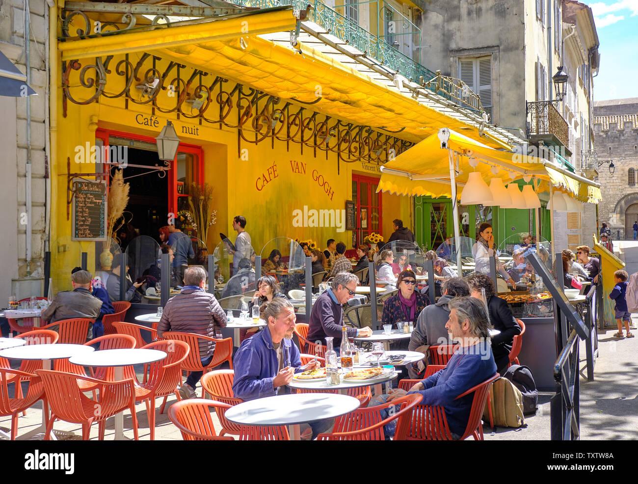 Café Terrace At Night Stock Photos Café Terrace At Night