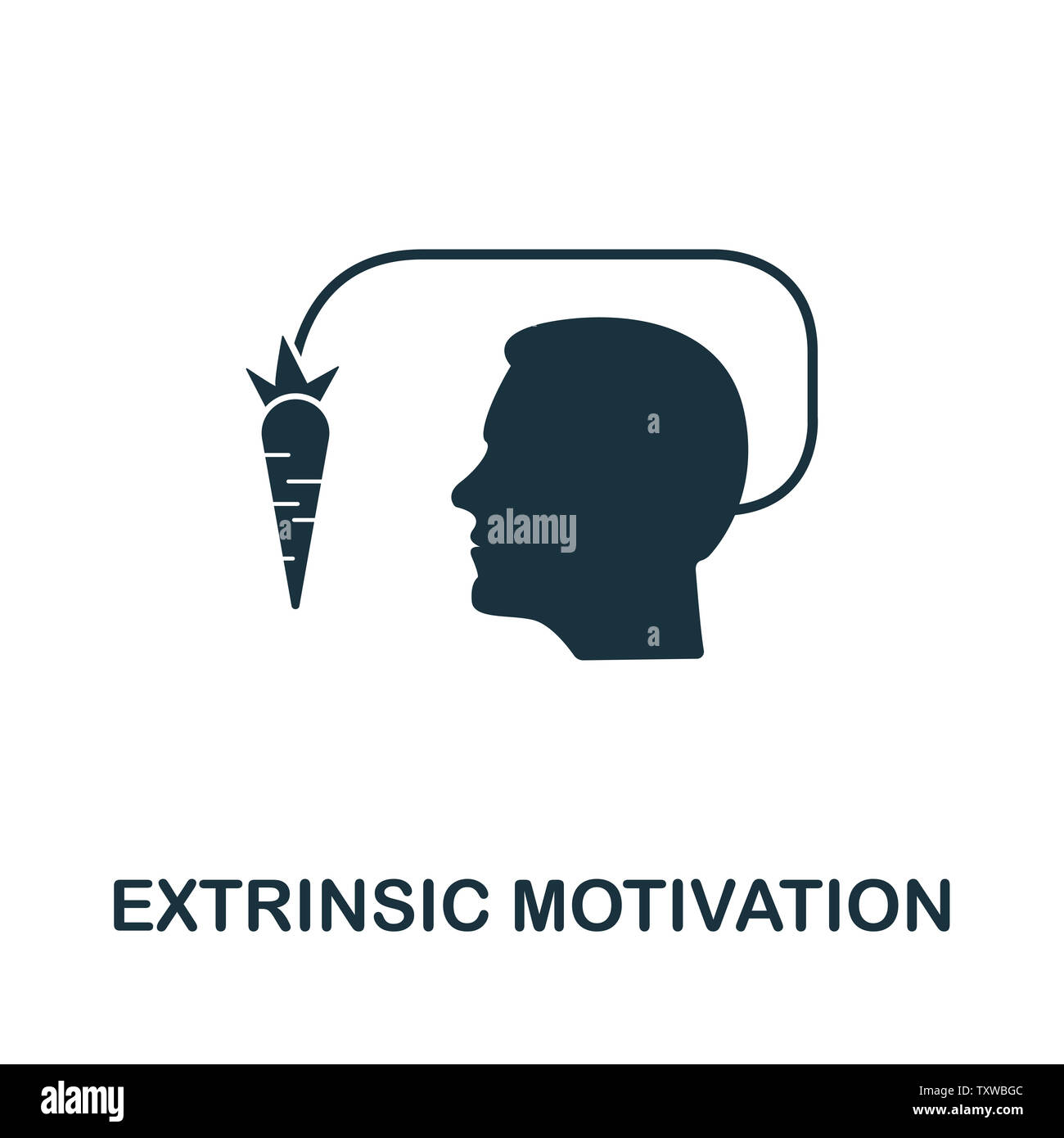 Extrinsic Motivation icon illustration. Creative sign from gamification icons collection. Filled flat Extrinsic Motivation icon for computer and mobil Stock Photo