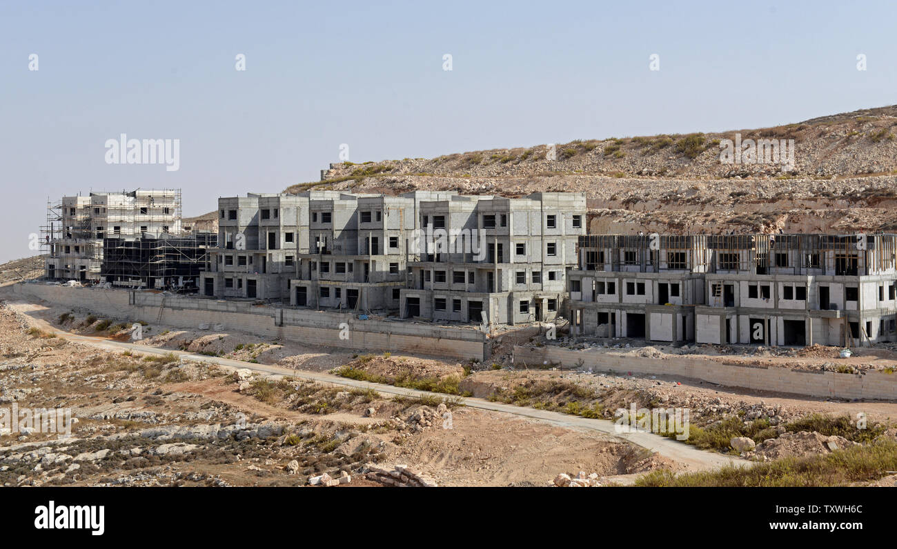 An overview of new Jewish housing units in the Pisgat Zeev