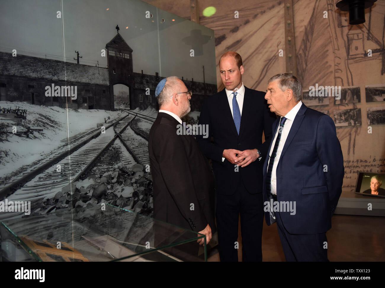 Prince William, the Duke of Cambridge, visits Yad Vashem, the World Holocaust Remembrance Center, in Jerusalem, Israel, June 26, 2018.  Photo by Debbie Hill/UPI - Stock Image