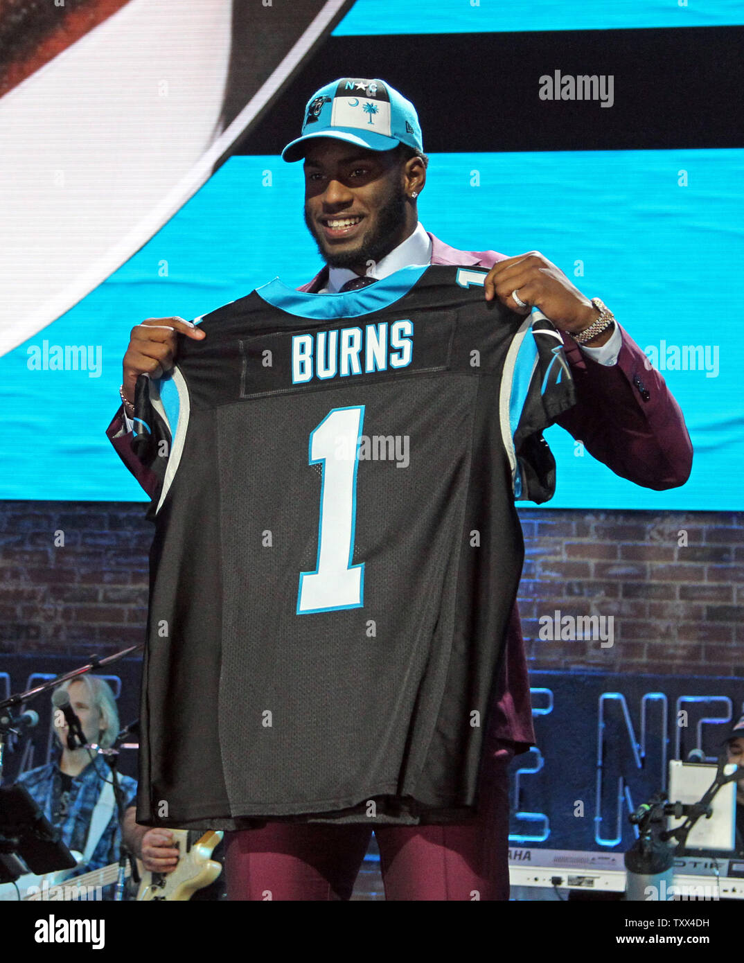 Carolina Panthers #53 Brian Burns Draft Game Jersey - Black