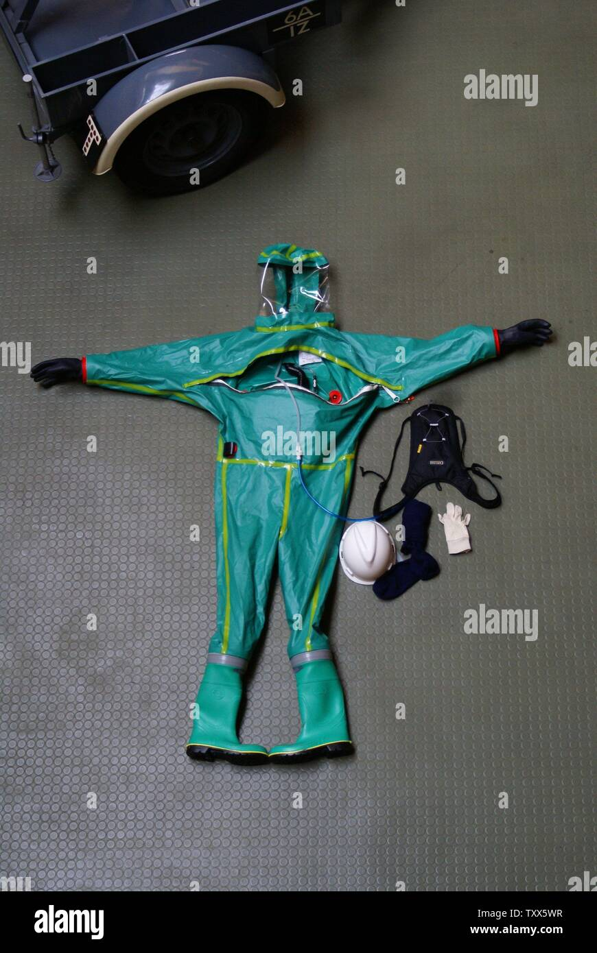CBRN, chemical suit - Stock Image