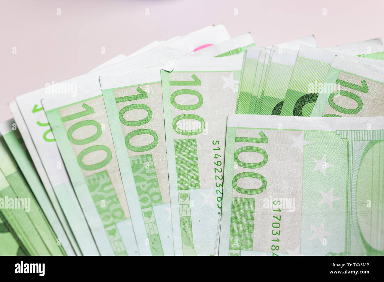 Euro banknotes - European currency - Stock Image