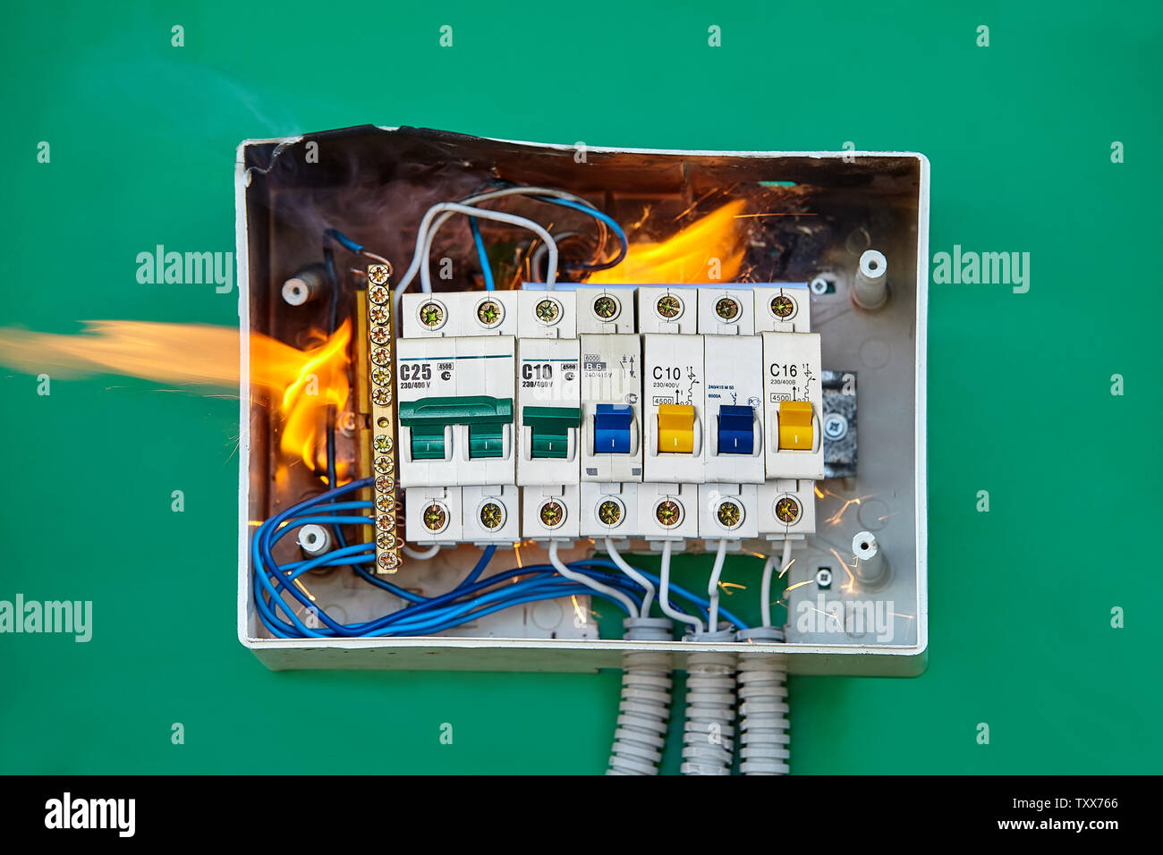 fuse box house high resolution stock photography and images - alamy  alamy