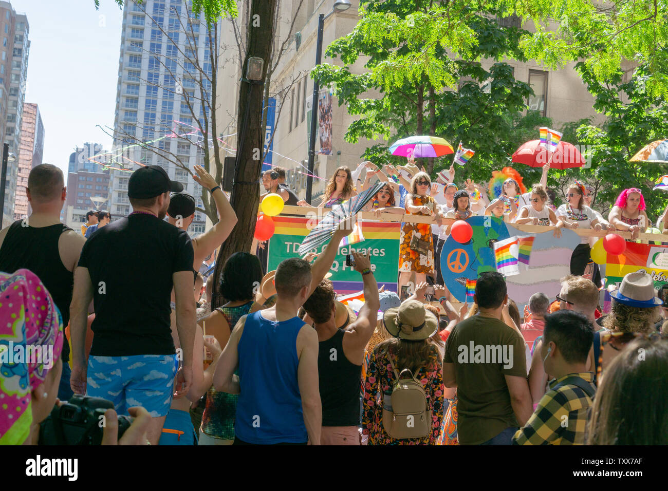 People put so much work and creativity into their floats during Pride. It was so inspiring! - Stock Image