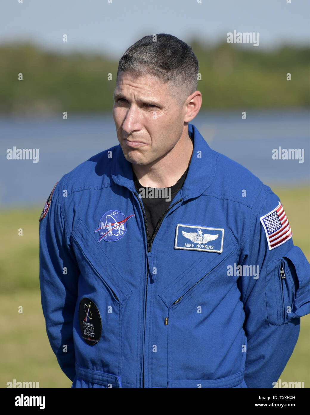 NASA Astronaut Mike Hopkins, assigned to the first operational