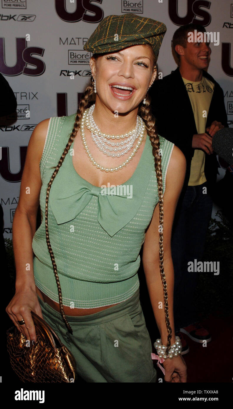 Fergie Of The Black Eyed Peas Arrives For Us Weekly S The Young