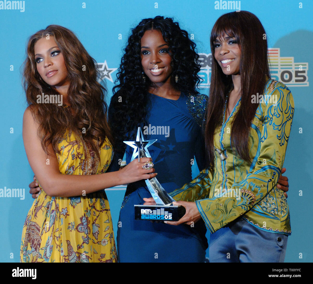 Beyonce Knowles, Kelly Rowland and Michelle Williams (L-R