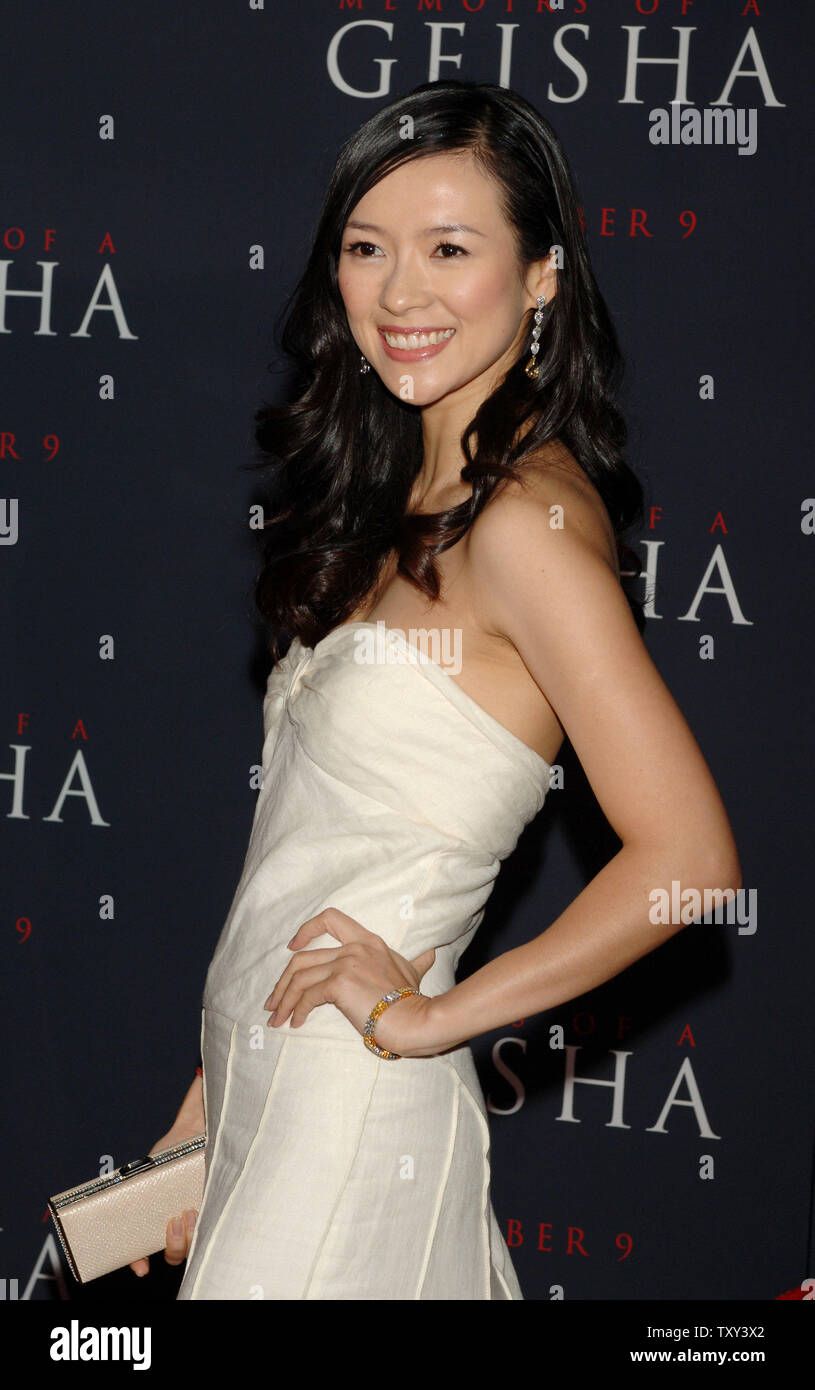 Chinese Actress Ziyi Zhang A Cast Member In The Romantic Drama Motion Picture Memoirs Of A