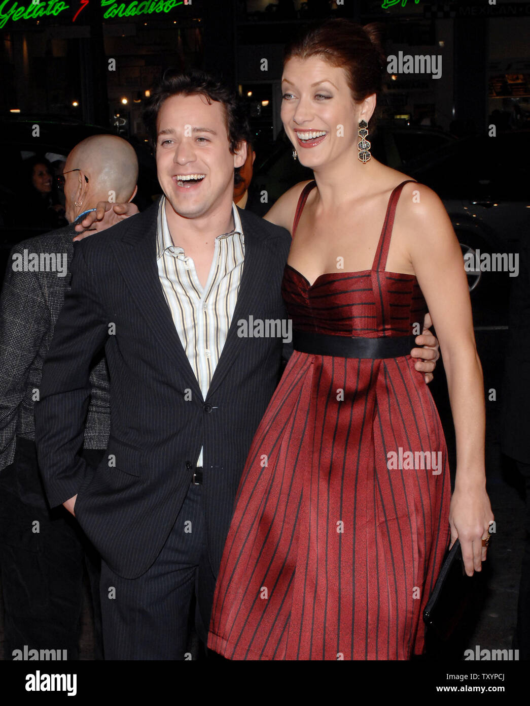 Actors Kate Walsh and T R  Knight, who co-star in the television