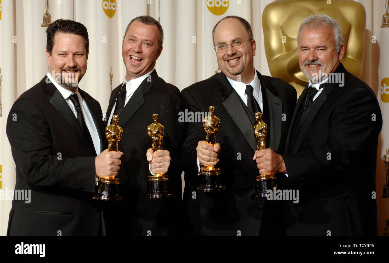 John Knoll, Hal Hickel, Charles Gibson and Allen Hall (L to