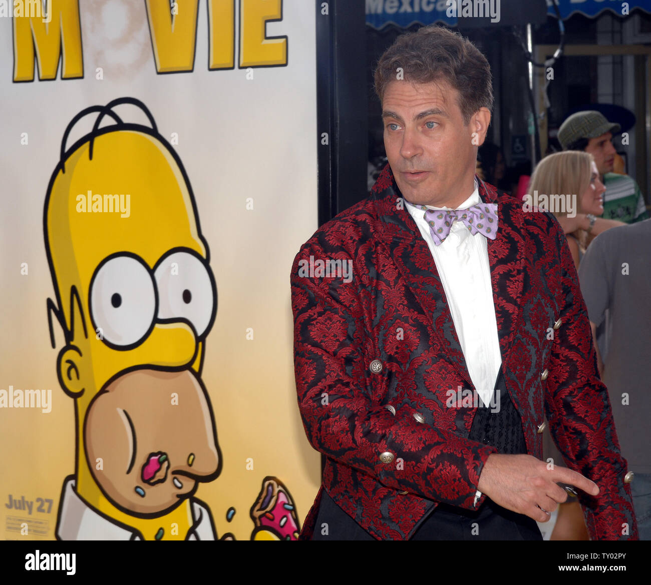 David Silverman The Director Of The Animated Motion Picture Comedy The Simpsons Movie Arrives At The Premiere Of The Film In The Westwood Section Of Los Angeles On July 24 2007 Upi