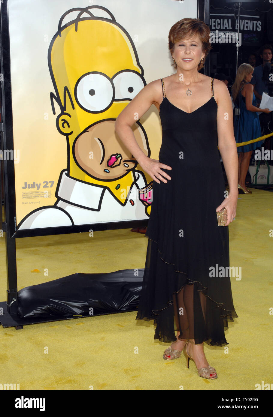 Yeardley Smith The Voice Of Lisa Simpson In The Animated Motion Picture Comedy The Simpsons Movie Arrives At The Premiere Of The Film In The Westwood Section Of Los Angeles On July