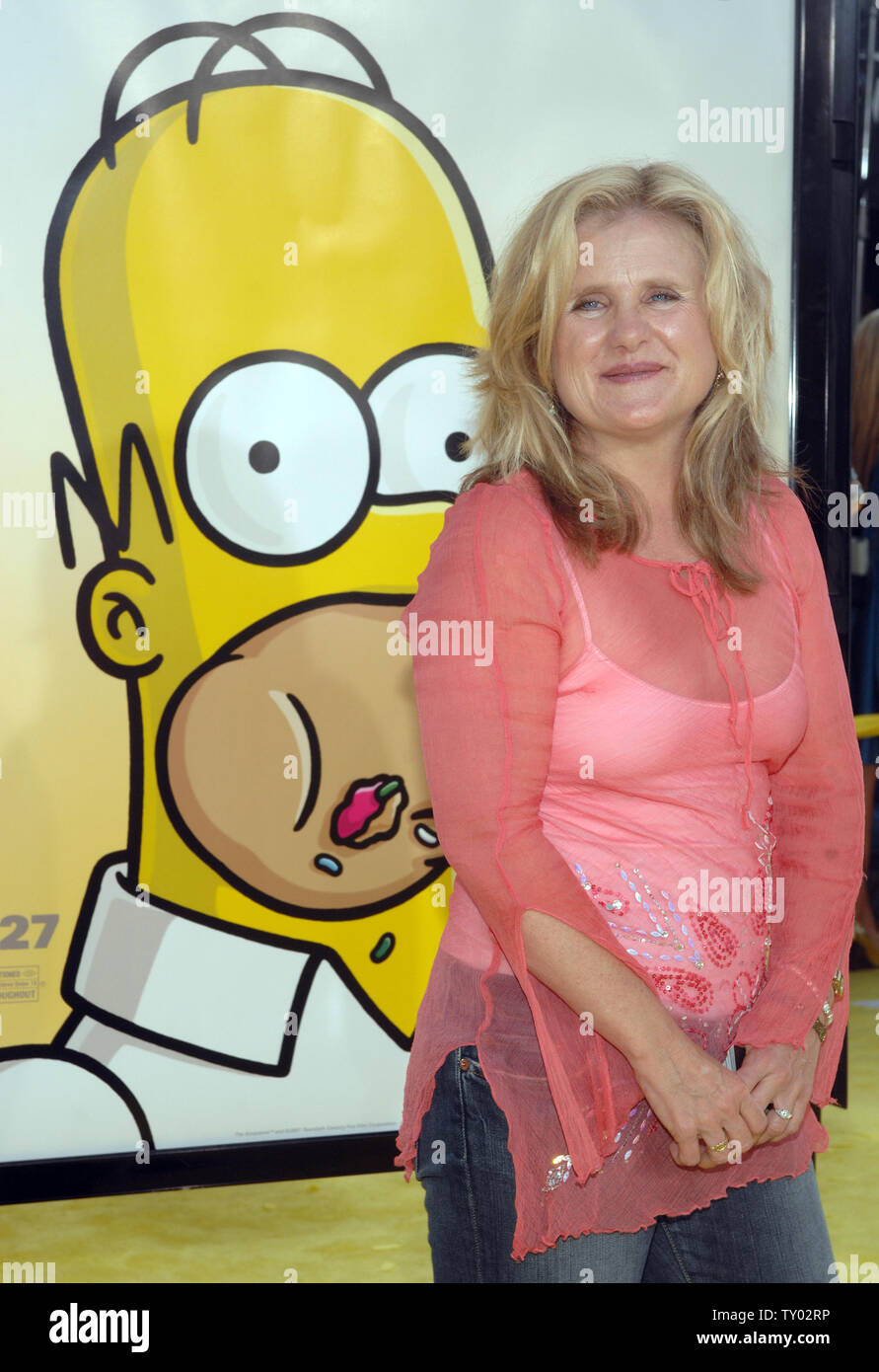 Nancy Cartwright The Voice Of Bart Simpson In The Animated Motion Picture Comedy The Simpsons Movie Arrives At The Premiere Of The Film In The Westwood Section Of Los Angeles On July