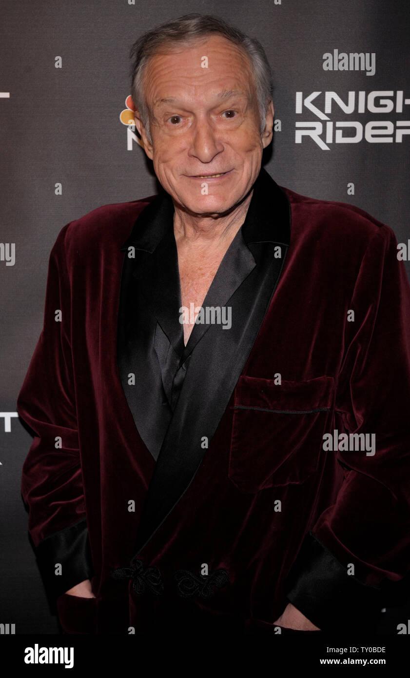 Hugh Hefner attends the Knight Rider cast party in Los