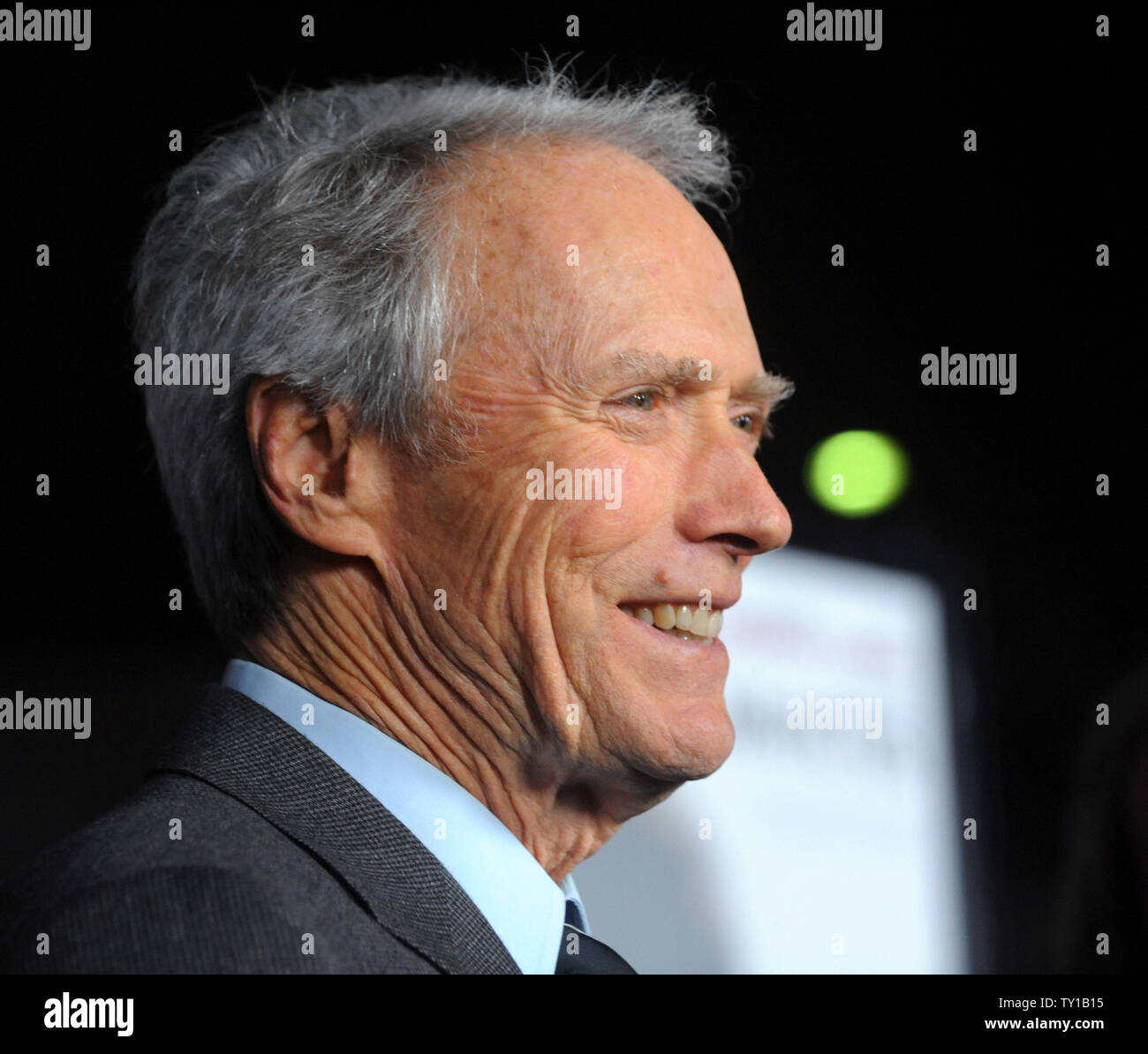Director Clint Eastwood attends the premiere of his new biographic drama motion picture 'Invictus' in Beverly Hills, California on December 3, 2009. Morgan Freeman portrays Nelson Mandela, in his first term as the South African President, initiates a unique venture to unite the apartheid-torn land: enlist the national rugby team on a mission to win the 1995 Rugby World Cup.     UPI/Jim Ruymen - Stock Image