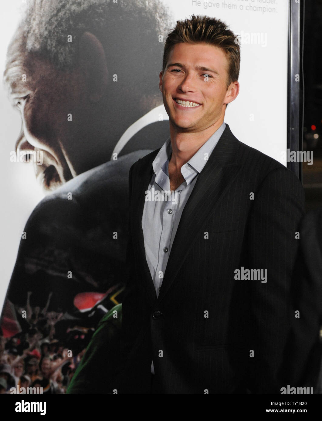 Scott Eastwood attends Clint Eastwood's new biographic drama motion picture 'Invictus' in Beverly Hills, California on December 3, 2009. Morgan Freeman portrays Nelson Mandela, in his first term as the South African President, initiates a unique venture to unite the apartheid-torn land: enlist the national rugby team on a mission to win the 1995 Rugby World Cup.     UPI/Jim Ruymen - Stock Image