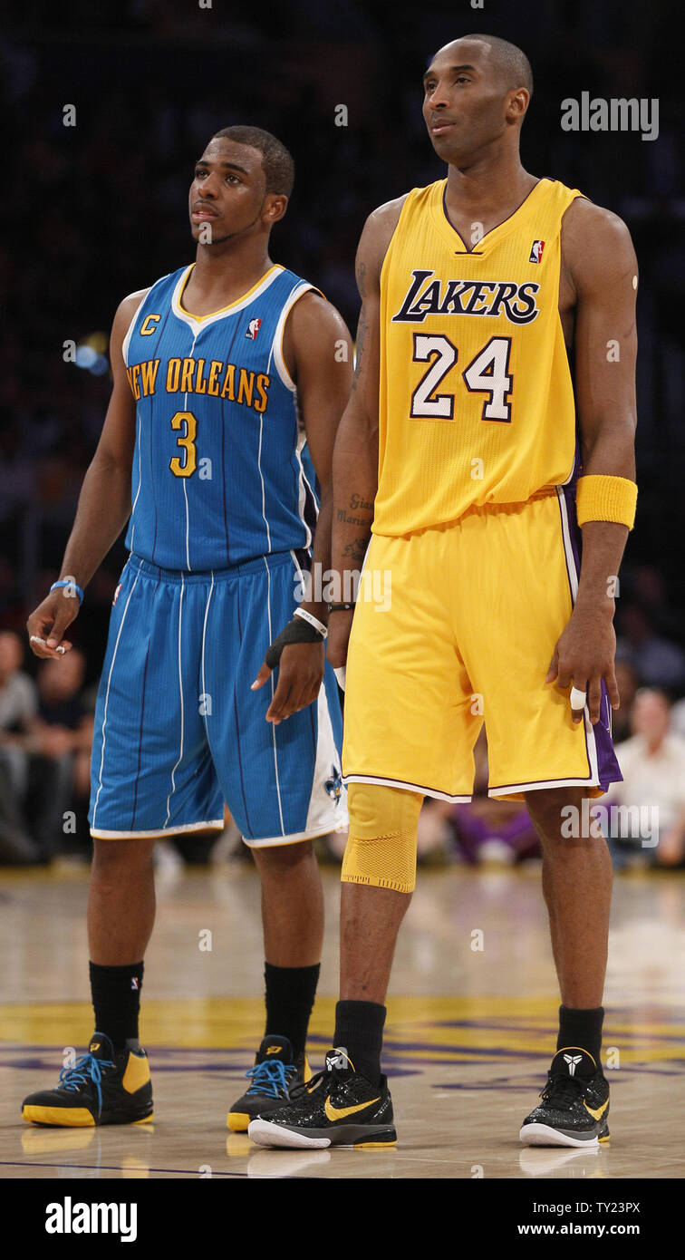 size 40 23481 3169d Los Angeles Lakers' Kobe Bryant (24) and New Orleans Hornets ...