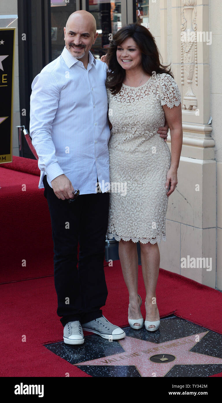 Television Personality Valerie Bertinelli R Shares A Moment With Her Husband Tom Vitale L During An