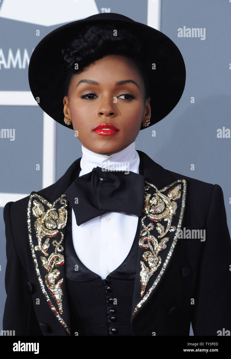 3ea288519c8 Janelle Monae arrives at the 55th annual Grammy Awards at Staples Center in Los  Angeles on February 10, 2013. UPI/Jim Ruymen