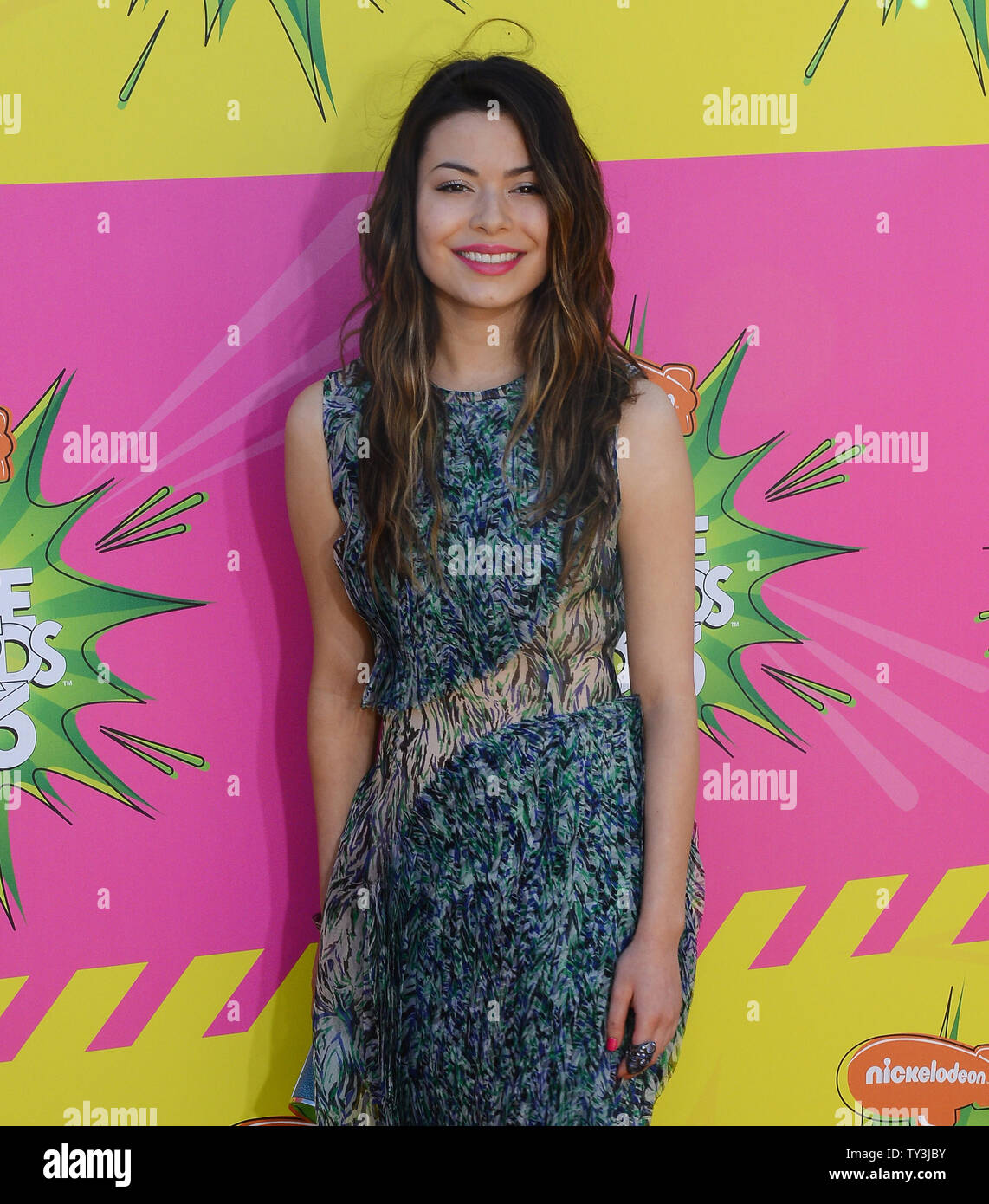 Actress Miranda Cosgrove arrives for Nickelodeon's 26th annual Kids' Choice Awards at the Galen Center in Los Angeles on March 23, 2013. UPI/Jim Ruymen - Stock Image