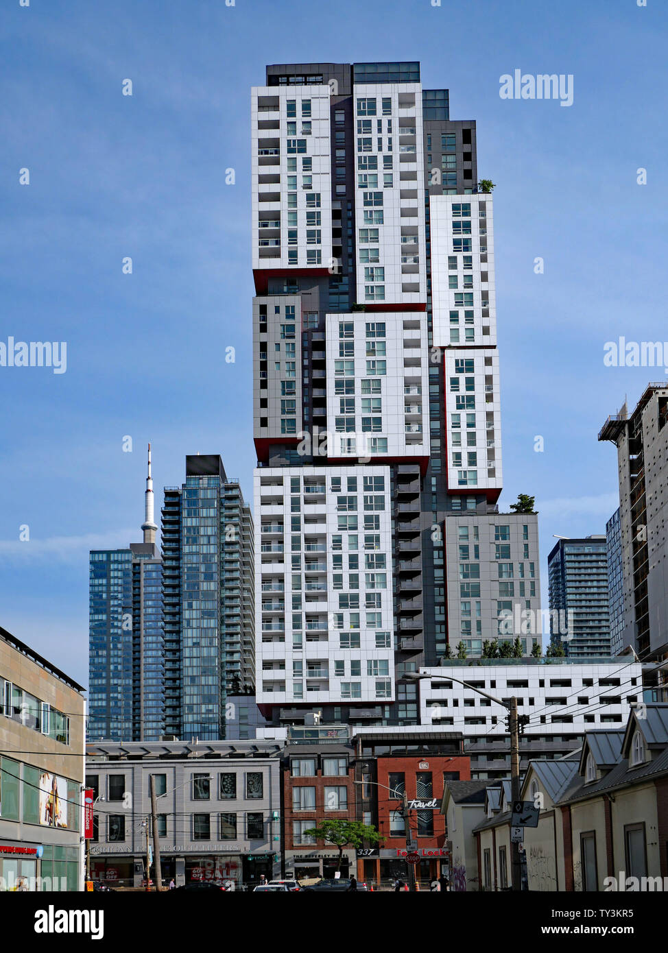 TORONTO - JUNE 2019: An eclectic mix of architecture on