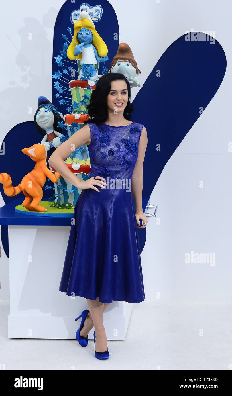 Singer and actress Katy Perry, the voice of Smurfette in the motion