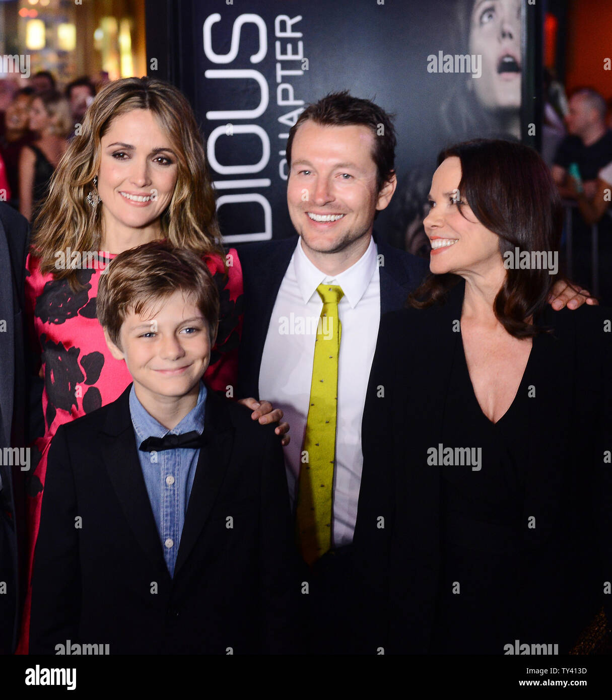 Cast members Rose Byrne, Ty Simpkins, Leigh Whannell and Barbara