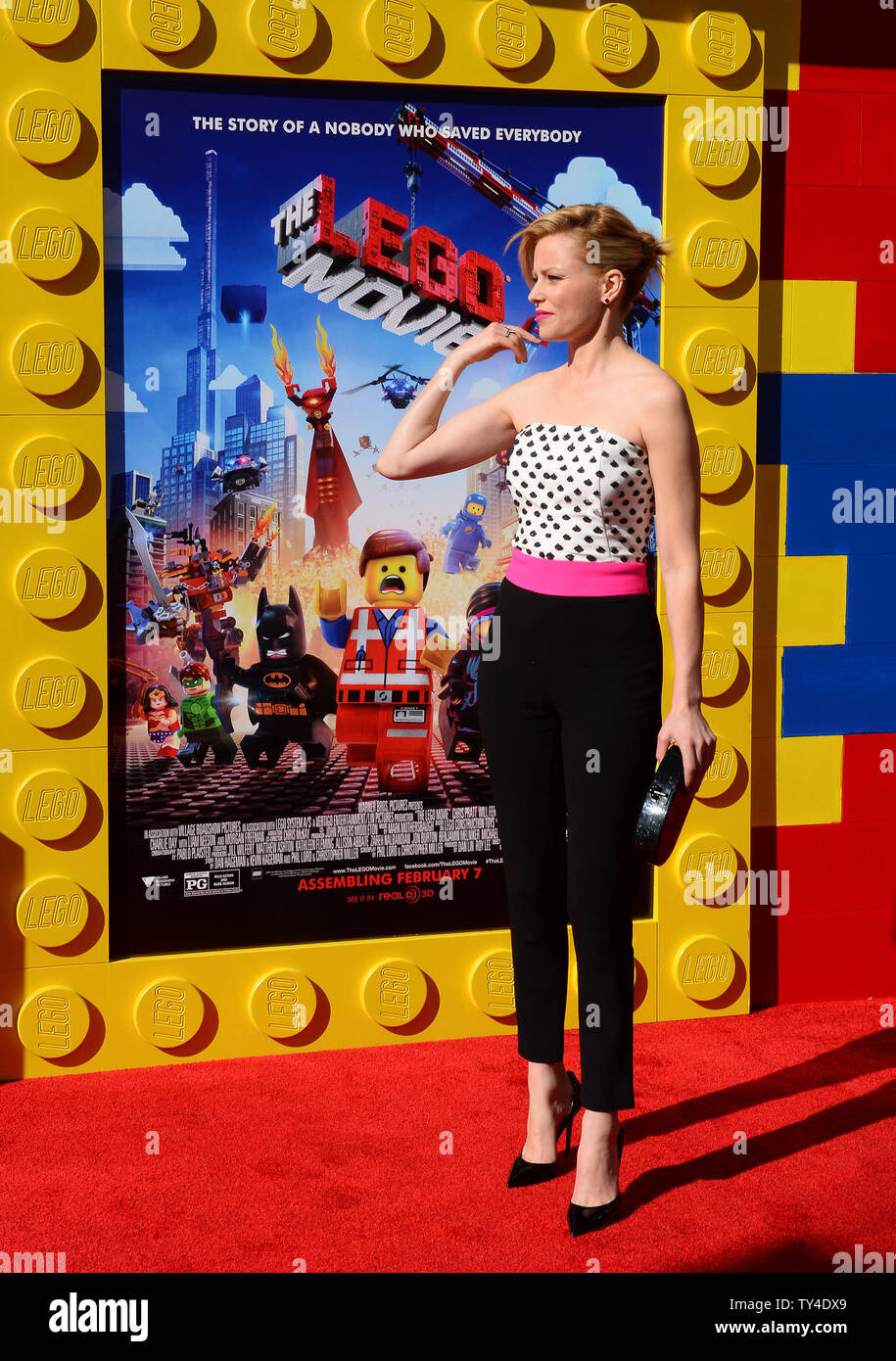 Cast Member Elizabeth Banks The Voice Of Wildstyle Lucy Attends The Premiere Of The Animated Comedy The Lego Movie At The Regency Village Theatre In The Westwood Section Of Los Angeles On February